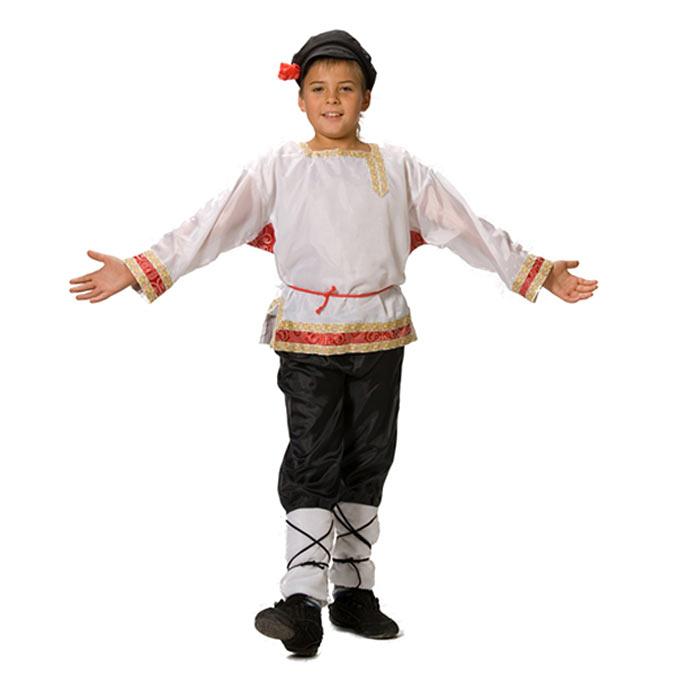 Карнавальный костюм для мальчика Вестифика Иванушка, цвет: белый, черный, красный. 101 015. Размер 104/116 -  Карнавальные костюмы и аксессуары