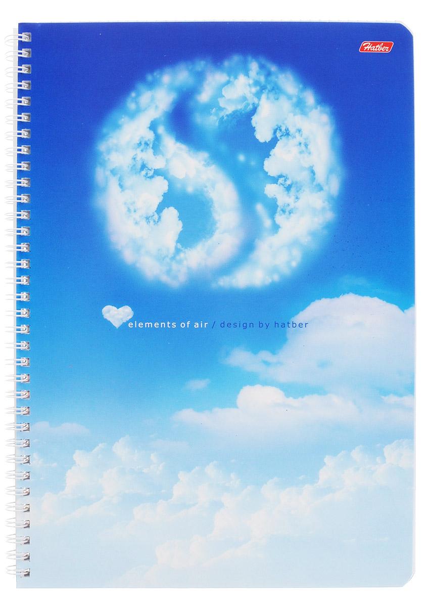 Hatber Тетрадь Air 96 листов в клетку72523WDТетрадь Hatber Air отлично подойдет как школьнику, так и студенту для объемных записей.Обложка тетради с закругленными уголками выполнена из картона и дополнена ярким изображением в виде символа инь-ян, выполненного из облаков.Внутренний блок тетради на металлическом гребне состоит из 96 листов белой бумаги с линовкой в клетку голубого цвета без полей. Листы снабжены микроперфорацией и специальными отверстиями для папки на кольцах.