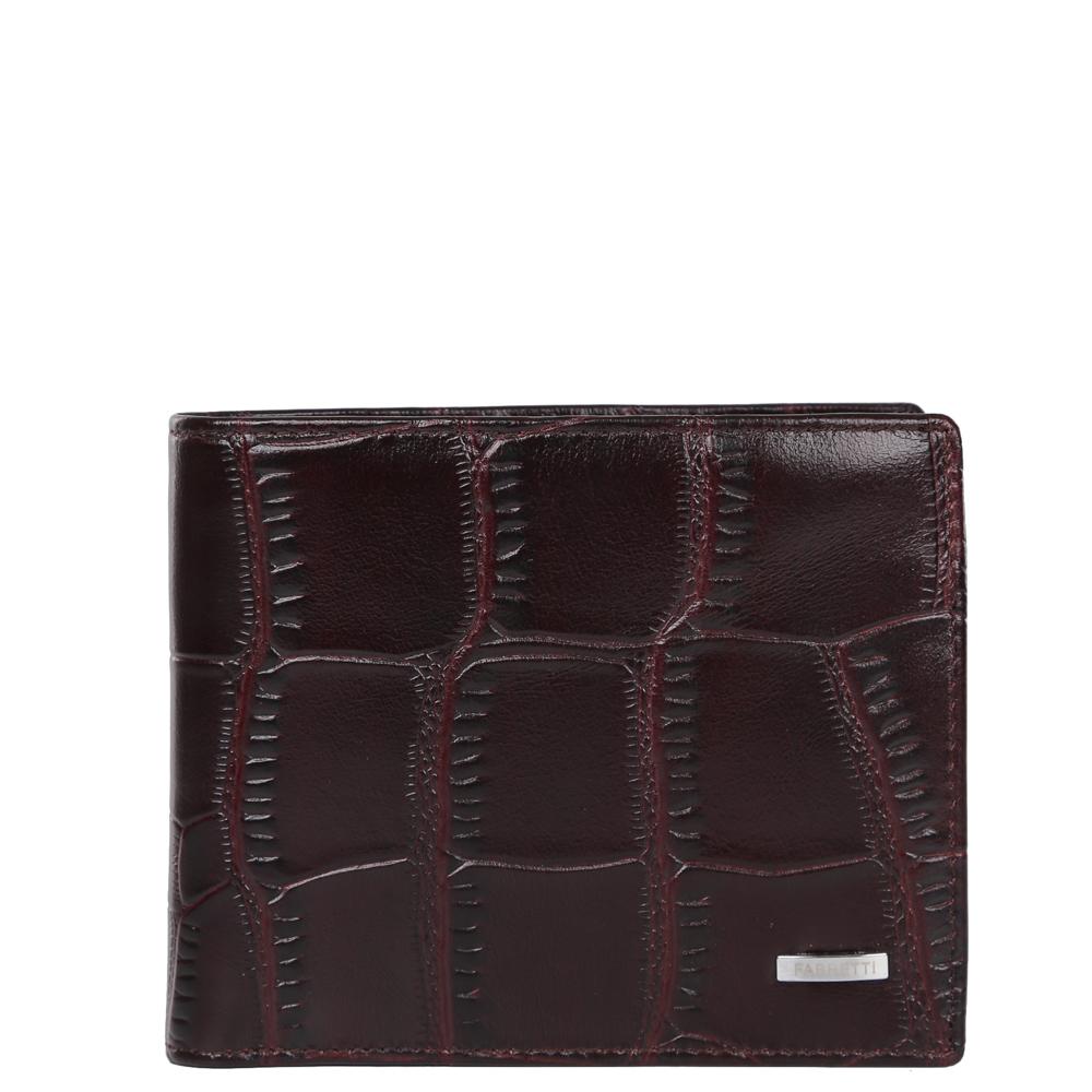 Кошелек мужской Fabretti, цвет: коричневый. 37007-brown coccoINT-06501Классический мужской кошелек от итальянского бренда Fabretti выполнен из натуральной кожи с элегантным тиснением под рептилию. Внутри модели имеется одно отделение для купюр. Вы с легкостью сможете расположить 6 дисконтных и кредитных карточек, а также всю мелочь с помощью удобного кармана.