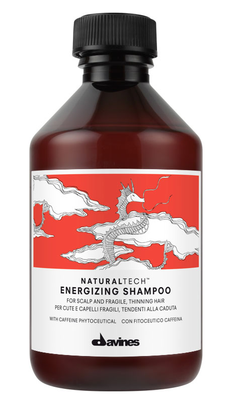 Davines Энергетический шампунь против выпадения волос New Natural Tech Energizing Shampoo, 250 мл71146Питательный шампунь предназначен для очень сухой кожи головы и ломких хрупких волос. Благодаря кремообразной текстуре получается густая пена, которую удобно наносить. Смесь из поверхностно-активных веществ легко очищает волосы. В шампуне также содержится богатый полифенолами фитоактив винограда, очень мощный антиоксидант. Эфирные масла мандарина, горького апельсина и иланг-иланга хорошо укрепляют волосы. рН 5,5.Уважаемые клиенты!Обращаем ваше внимание на возможные изменения в дизайне упаковки. Качественные характеристики товара остаются неизменными. Поставка осуществляется в зависимости от наличия на складе.