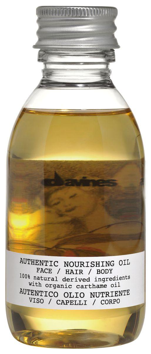 Davines Питательное масло для лица, волос и тела Authentic Formulas Nourishing oil face/hair/body, 140 мл150284Масло Nourishing oil - это питательное увлажняющее средство, которое на 100% состоит из ингредиентов природного происхождения и обладает лёгким приятным ароматом. В его формулу входит масло сафлора красильного, выполняющего функцию антиоксиданта. Кроме того, продукт обогащён натуральными маслами кунжута, жожоба и подсолнечника.