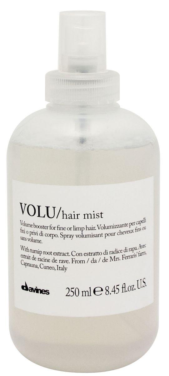 Davines Несмываемый спрей для придания объема волосам Essential Haircare New Volu Hair Mist, 250 мл099-6-1581304Специальная серия для длинных или поврежденных волос. Активный экстракт капраунской репы восстанавливает и питает локоны. Богатая важными аминокислотами формула защищает локоны. Серин и глютаминовая кислота обеспечивают благоприятное воздействие на кудри, увеличивая их объем. Фосфор, железо, кальций и набор витаминов защищают волосы, придают им плотность. Не нагружает волосы.