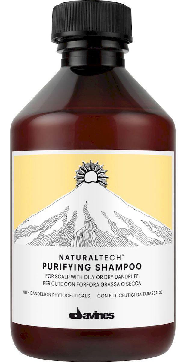 Davines Очищающий шампунь против перхоти New Natural Tech Purifying Shampoo, 250 млFS-36054Очищающий шампунь помогает бороться с жирной и сухой себореей. Фитоактив одуванчика, входящий в формулу шампуня, помогает организму вырабатывать витамины С, А, В2 и РР, а также фосфор и кальций, что жизненно необходимо для здоровья волос. Эфирные масла шалфея, мирры и лаванды питают и укрепляют волосы. Селен дисульфида активно борется с болезнетворными бактериями. рH 4,9.