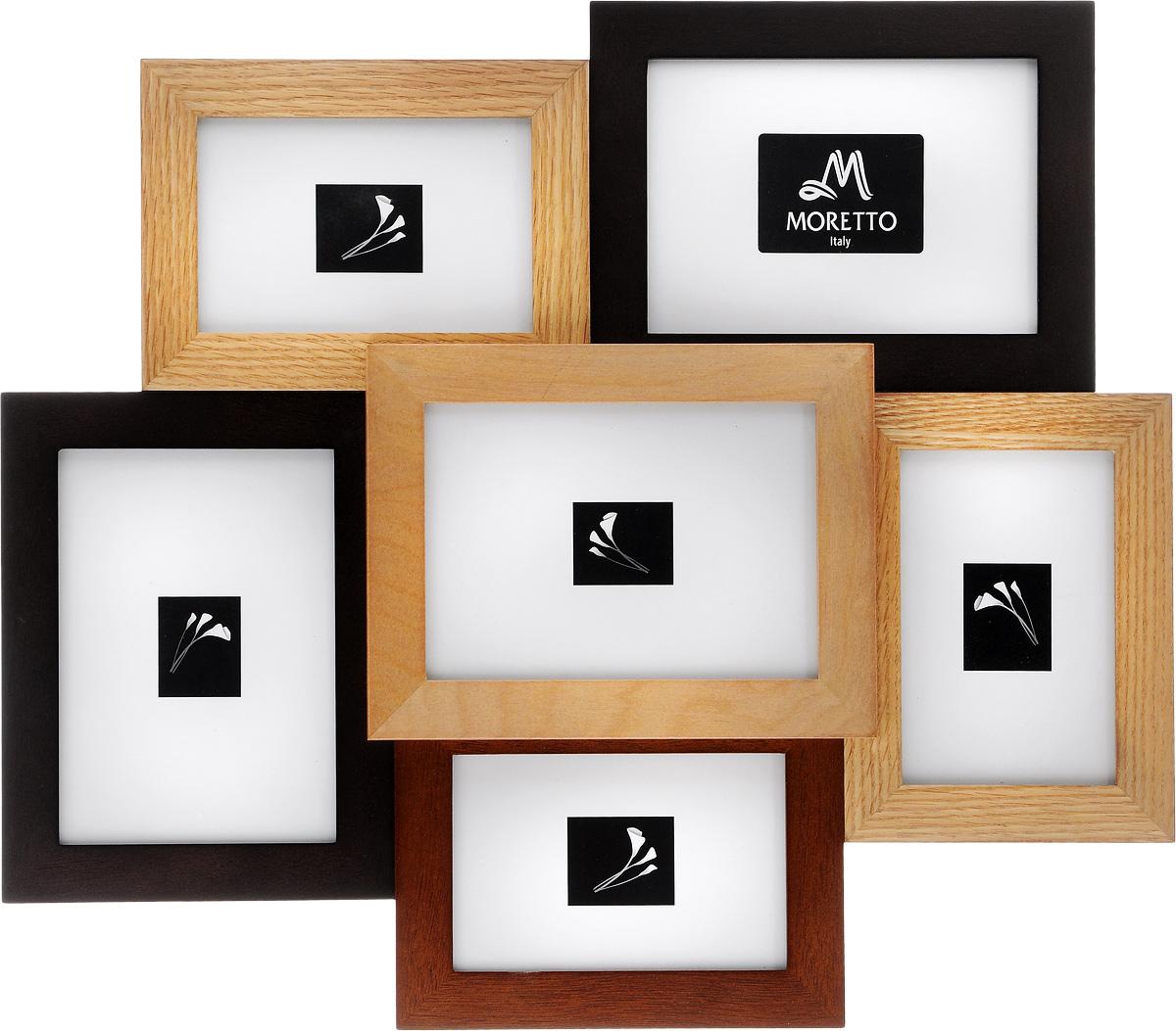 Фоторамка Moretto, на 6 фотоPlatinum JW17-206 ТУРИН-СЛОНОВАЯ КОСТЬ 21x30Фоторамка Moretto отлично дополнит интерьер помещения и поможет сохранить на память ваши любимые фотографии. Фоторамка выполнена из дерева и представляет собой коллаж из 6 прямоугольных рамочек с вертикальным и горизонтальным расположением фотографий. Изделие подвешивается к стене. Такая рамка позволит сохранить на память изображения дорогих вам людей и интересных событий вашей жизни, а также станет приятным подарком для каждого.Размер рамок:- 3 фоторамки 25,7 х 16,9 см для фото 12 х 17 см,- 3 фоторамки 14,2 х 19,2 см для фото 10 х 15 см.Общий размер фоторамки: 51 х 44 см.