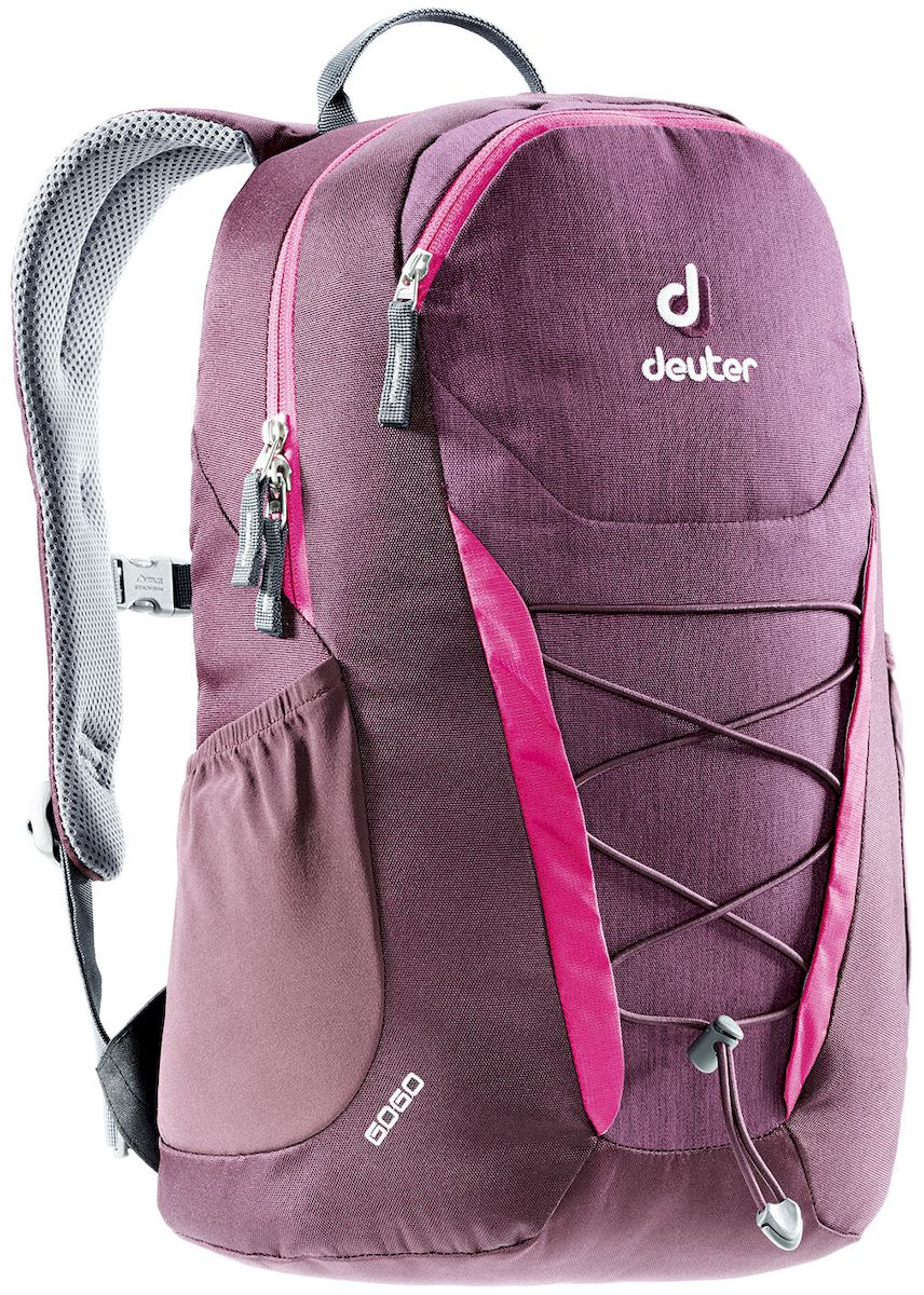 Рюкзак Deuter Gogo, цвет: бордовый, 25 л332515-2358Представляем обновленный, обтекаемый, с техническим дизайном рюкзак Deuter Gogo для школы, офиса и на каждый день. В нем сохранились все практичные опции, и добавилась новая комфортная подвесная система.Особенности: - спинка Airstripes для великолепной вентиляции;- очень комфортные, эргономичные, мягкие плечевые лямки;- легкий доступ в основное отделение через двухходовую U-образную молнию;- передний карман на молнии с карабином для ключей;- эластичные боковые карманы;- нагрудный ремешок с плавной регулировкой;- сменный поясной ремень;- главное отделение размером папки для бумаг;- отделение для документов;- эластичный корд на фронтальной части рюкзака;- внутренний карман для ценных вещей.Вес: 590 г.Объем: 25 л.Размеры: 46 x 30 x 21 см.Материал: Super-Polytex.
