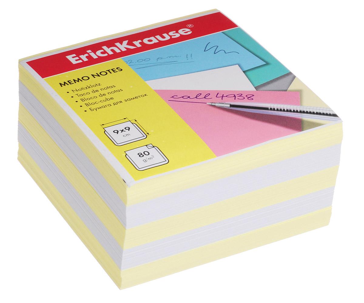 Erich Krause Бумага для заметок цвет желтый белый 9 см х 9 см х 5 см