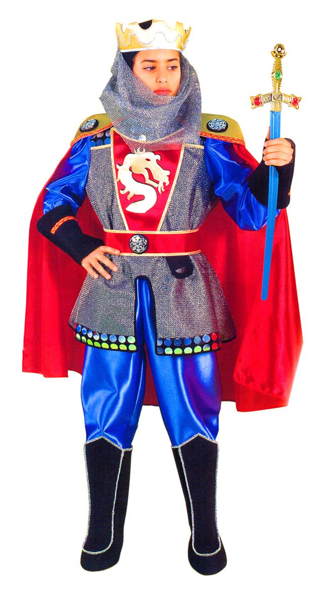 Rio Карнавальный костюм для мальчика Рыцарь цвет красный синий размер 32 (6-7 лет) - Карнавальные костюмы и аксессуары