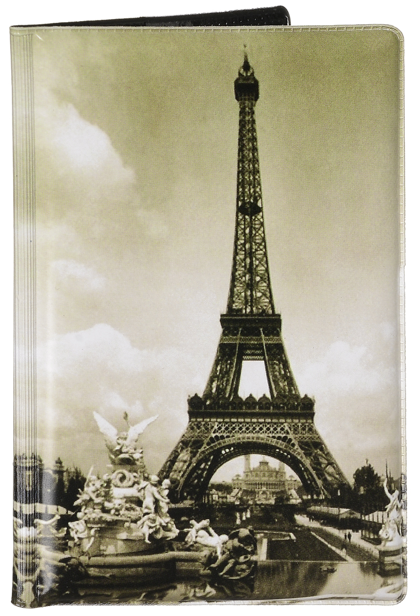 Обложка для паспорта Эврика Эйфелева башня, цвет: черно-белый. 95534W16-12123_811Оригинальная обложка для паспорта Эврика понравится вам с первого взгляда. Она изготовлена из качественного ПВХ и оформлена оригинальным принтом. Внутри расположены прозрачные карманы для фиксации паспорта.Такая обложка не только поможет сохранить внешний вид вашего паспорта и защитить его от повреждений, но и станет стильным аксессуаром.