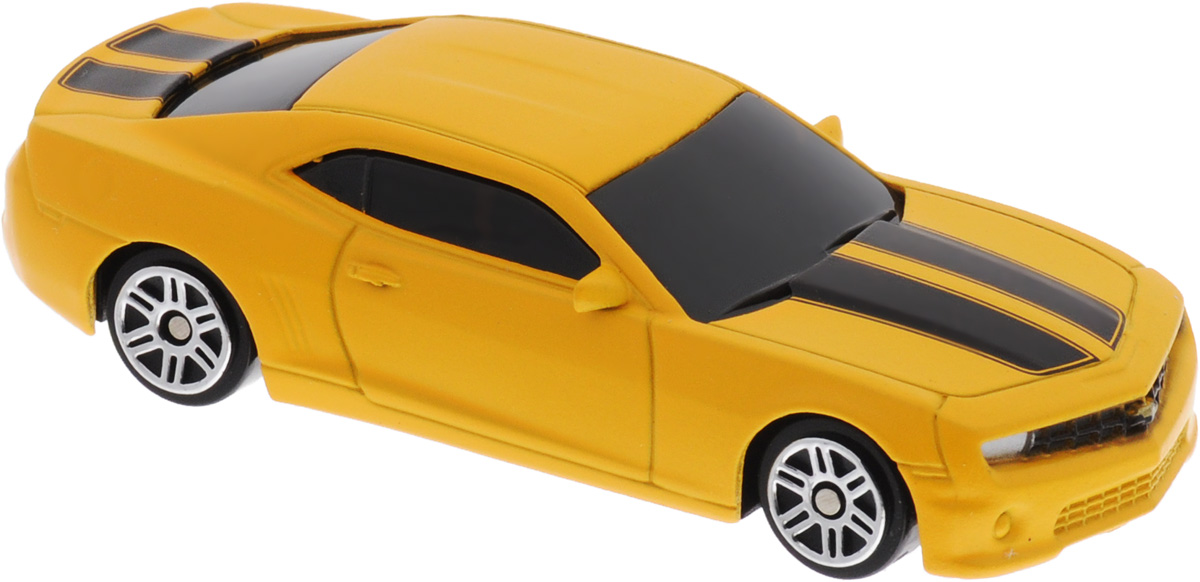 Uni-FortuneToys Модель автомобиля Chevrolet Camaro цвет желтый