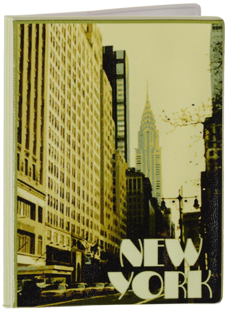 Обложка для паспорта Эврика New York, цвет: песочный, бежевый, черный. 92519A52_108Оригинальная обложка для паспорта Эврика понравится вам с первого взгляда. Она изготовлена из качественного ПВХ и оформлена оригинальным принтом и надписями. Внутри расположены прозрачные карманы для фиксации паспорта.Такая обложка не только поможет сохранить внешний вид вашего паспорта и защитить его от повреждений, но и станет стильным аксессуаром.