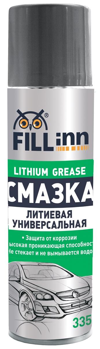 Смазка автомобильная Fill Inn, аэрозоль, универсальная, литиевая, 335 млFL026Обеспечивает качественную смазку и долговременную надежную защиту от коррозии при любой погоде. Предохраняет детали крепежа и контакты от конденсации влаги при перепаде температур, а также от возникновения очагов коррозии при воздействии дорожной соли. Идеально подходит для смазки дверных замков и петель в автомобиле. Образует водоотталкивающую плёнку, которая не только отталкивает воду, но и предотвращает попадание грязи в сопряжённые механизмы. Может применяться в быту. Для удобства применения баллон снабжен распылительной трубкой с форсункой.