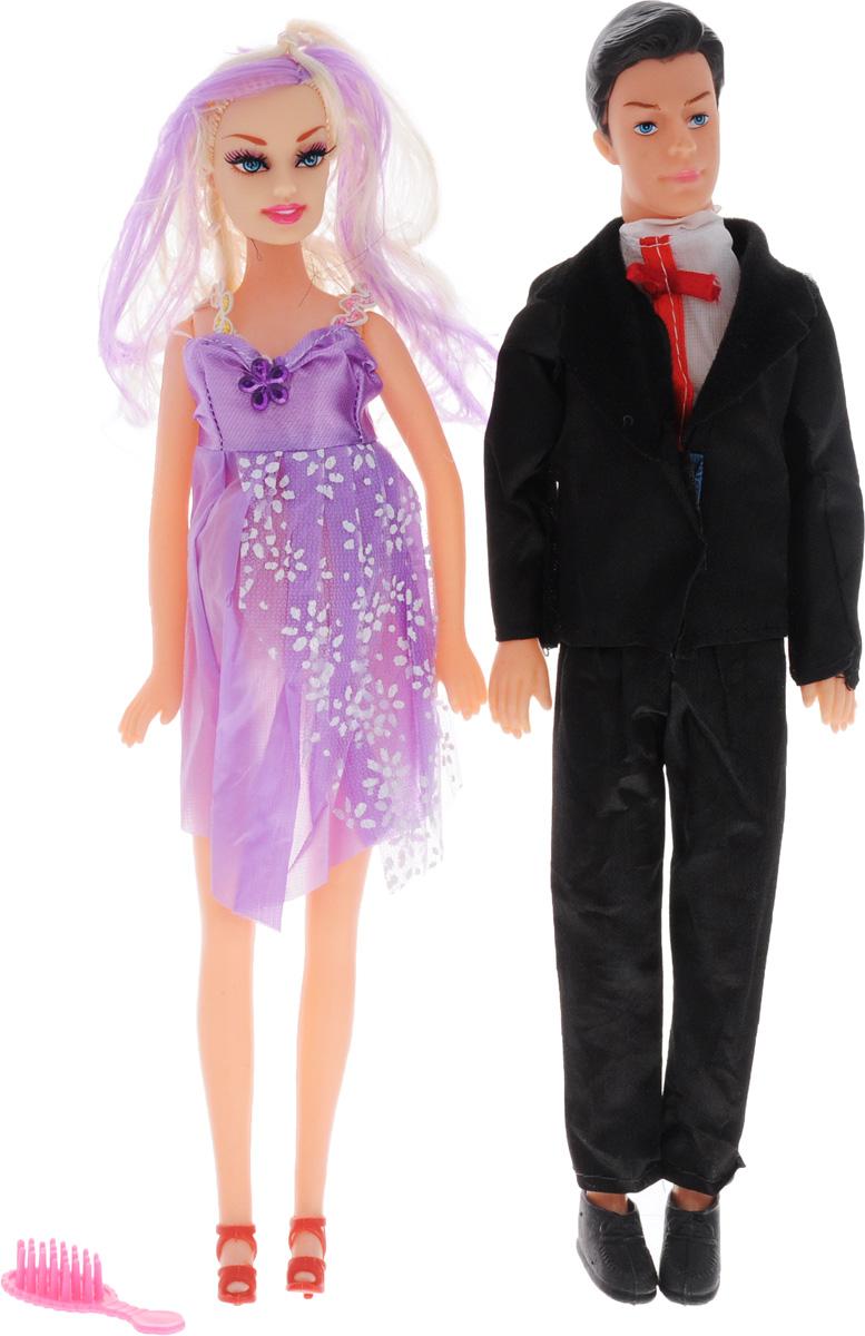Shantou Набор кукол цвет одежды черный сиреневый белый 2 шт