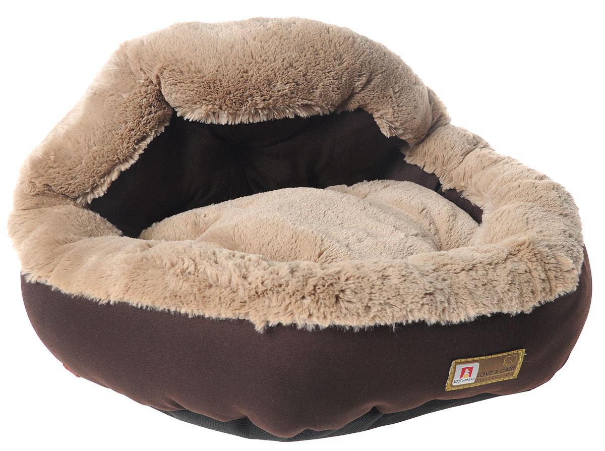 Лежак для собак и кошек Зоогурман Президент, цвет: темный шоколад, 45 х 45 х 20 см0120710Мягкий и уютный лежак для кошек и собак Зоогурман Президент обязательно понравится вашему питомцу. Лежак выполнен из нежного, приятного материала. Внутри - мягкий наполнитель, который не теряет своей формы долгое время.Внутри лежака съемная меховая подушка. Мягкий, приятный и теплый лежак обеспечит вашему любимцу уют и комфорт. Подходит как для кошек, так и для собак.За изделием легко ухаживать, можно стирать вручную или в стиральной машине при температуре 40°С. Материал бортиков: микроволоконная шерстяная ткань.Материал спинки и матрасика: искусственный мех.Наполнитель: гипоаллергенное синтетическое волокно.