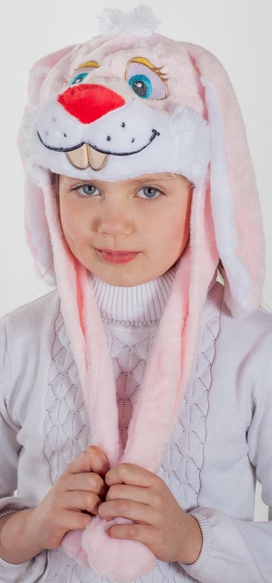 Карнавалия Карнавальный аксессуар для девочки Зайка цвет розовый размер 54