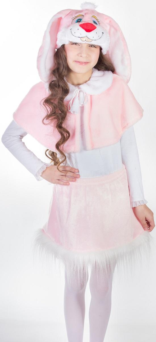 Карнавалия Карнавальный костюм для девочки Зайка цвет розовый рост 122