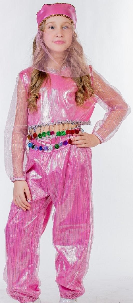 Карнавалия Карнавальный костюм для девочки Шахерезада цвет розовый размер 122 - Карнавальные костюмы и аксессуары