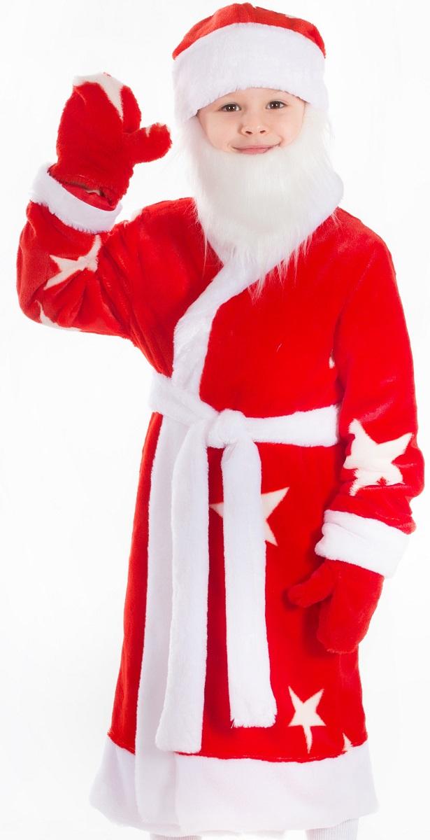 Карнавалия Карнавальный костюм для мальчика Дед Мороз цвет красный белый рост 122