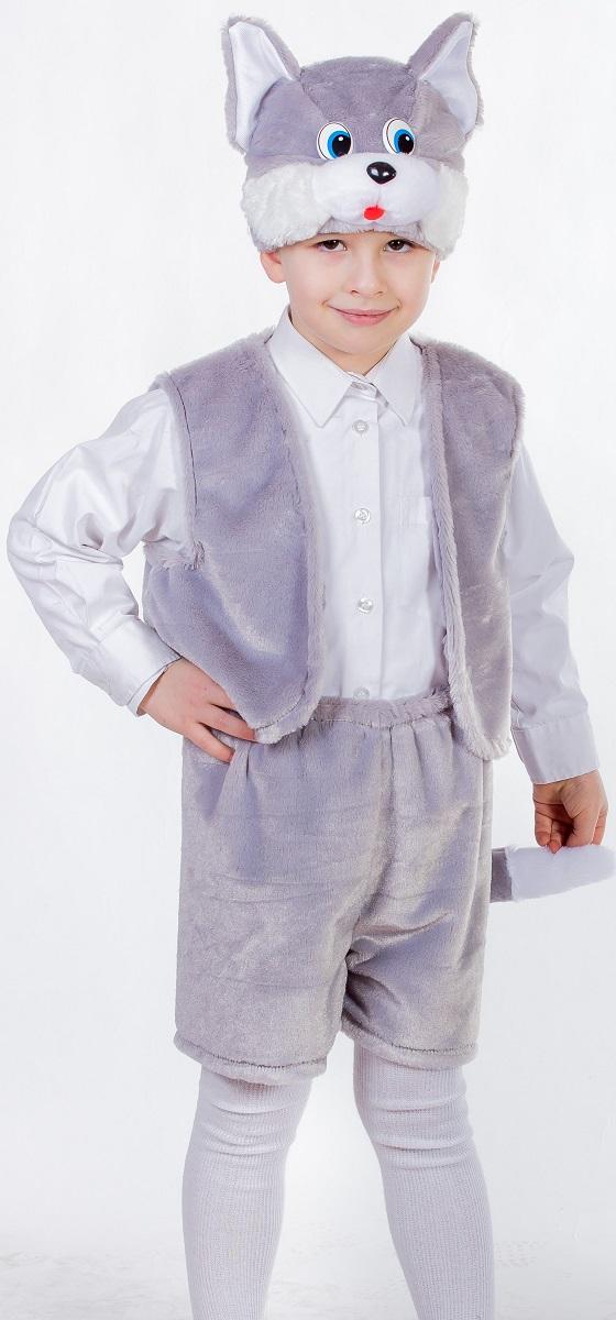 Карнавалия Карнавальный костюм для мальчика Котенок цвет серый размер 122 костюм карнавальный для мальчика карнавалия котенок 88023