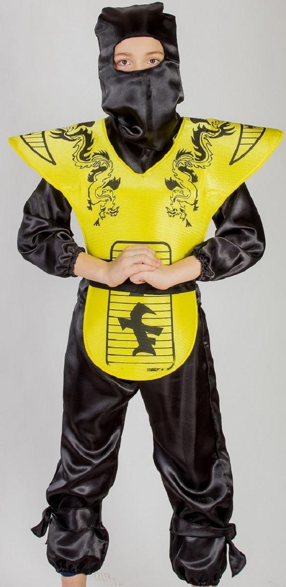 Карнавалия Карнавальный костюм для мальчика Ниндзя цвет черный желтый рост 122 - Аксессуары для детского праздника