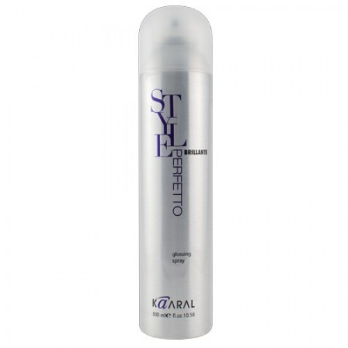 Kaaral Спрей для бриллиантового блеска Style Perfetto Brilliante Glossing Spray, 300 млFS-00897Завершающий спрей ультра блеск придает волосам ослепительный блеск и бриллиантовое сияние. Великолепно подходит для любых типов волос. Не перегружает волосы, предотвращает электризацию волос. Делает волосы более эластичными и гладкими. УФ-фильтры защищают волосы от вредного воздействия солнечных лучей. Без фактора фиксации.