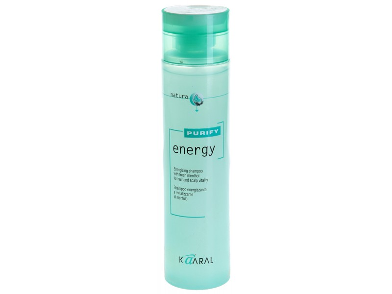 Kaaral Интенсивный энергетический шампунь с ментолом Purify Energy Shampoo, 250 мл02011403Тонизирующий шампунь с экстрактом мяты и ментола. Нейтральный уровень РН допускает ежедневное применение. Обладает благоприятным тонизирующим действием вечером, и бодрящим эффектом утром. Идеален для мужчин.
