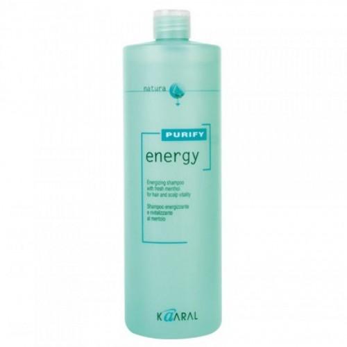 Kaaral Интенсивный энергетический шампунь с ментолом Purify Energy Shampoo, 1000 млMP59.4DТонизирующий шампунь с экстрактом мяты и ментола. Нейтральный уровень РН допускает ежедневное применение. Обладает благоприятным тонизирующим действием вечером, и бодрящим эффектом утром. Идеален для мужчин.