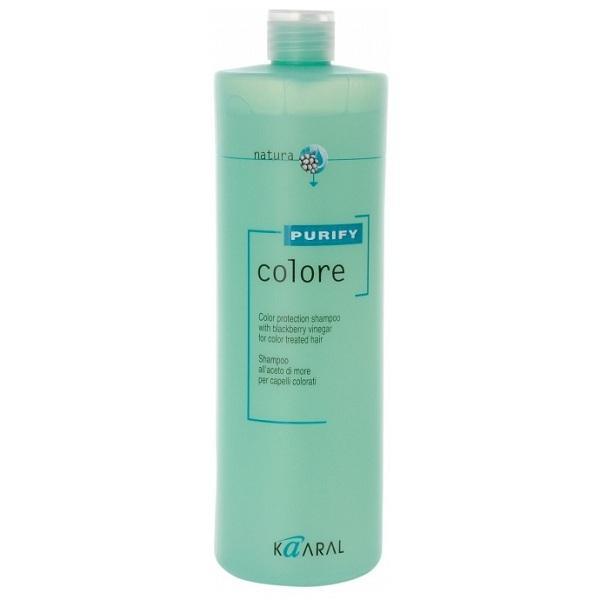Kaaral Шампунь для окрашенных волос Purify Colore Shampoo, 1000 мл72523WDВысокоэффективный слабокислый PH шампунь для окрашенных волос. Бережно закрывает кутикулу, надолго сохраняя цветовые пигменты внутри волос, нейтрализует остатки щелочи и перекиси, что позволяет сохранить яркость цвета и блеск окрашенных волос. Эксклюзивный комплекс питательных веществ на основе плодов и листьев ежевики оказывает интенсивное ухаживающее воздействие улучшая структуру волос.