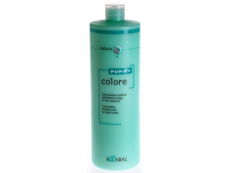Kaaral Кондиционер для окрашенных волос Purify Colore Conditioner, 1000 млFS-00897SPA – кондиционер для окрашенных волос на основе экстракта листьев и плодов ежевики идеально ухаживает за кутикулой волоса, предупреждая вымывание цветовых пигментов внутри волос. Делает волосы гибкими и эластичными. Максимально усиливает блеск и сияние окрашенных волос. Облегчает расчесывание и обеспечивает защиту волос от неблагоприятного воздействия окружающей среды. Обладает благоприятным ароматерапевтическим действием.