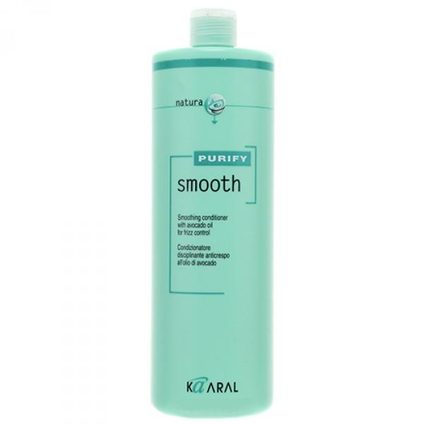 Kaaral Кондиционер для вьющихся волос Purify Smooth Conditioner, 1000 млAC-1121RDCпециальный SPA – кондиционер для ухода за вьющимися непослушными волосами направленного действия. Мощный увлажняющий комплекс на основе экстракта масла авокадо, богатого витаминами А, E и полиненасыщенными жирными кислотами (омега-3 и омега-6), питает и укрепляет волосы. Обволакивает и выглаживает кутикулу, делая волосы блестящими и послушными. Надежно защищает волосы от пересыхания. Наличие летучей формы эфирного оливкового масла способствует качественному кондиционированию и защите кутикулы волос без утяжеления. Облегчает процесс укладки волос.