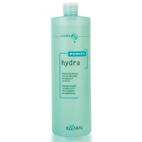 Kaaral Увлажняющий шампунь для сухих волос Purify Hydra Shampoo, 1000 млMP59.4DШампунь бережно очищает и интенсивно увлажняет сухие волосы, сохраняет природный гидролипидный баланс. Создан на основе экстрактов ромашки, масла семян сладкого миндаля и протеинов риса. Обладает успокаивающим и антисептическим действием. Питает волосы по всей длине, придавая мягкость и великолепный блеск.