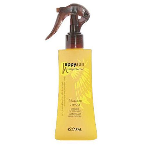 Kaaral Солнцезащитный спрей-масло Sun Tanning Oil Happy Sun Bamboo bronze, 150 млSatin Hair 7 BR730MNSun Tanning Oil способствует прекрасному бронзовому загару. Эффективно защищает кожу от пересушивания и фотоувядания. SPF 15