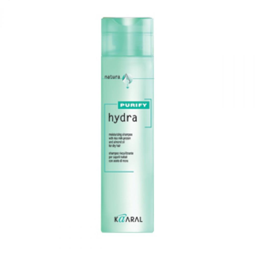 Kaaral Увлажняющий шампунь для сухих волос Purify Hydra Shampoo, 250 млMP59.4DШампунь бережно очищает и интенсивно увлажняет сухие волосы, сохраняет природный гидролипидный баланс. Создан на основе экстрактов ромашки, масла семян сладкого миндаля и протеинов риса. Обладает успокаивающим и антисептическим действием. Питает волосы по всей длине, придавая мягкость и великолепный блеск.