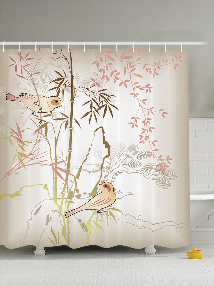 Штора для ванной комнаты Magic Lady Красивые птицы амадины, 180 х 200 см35840Компания Сэмболь изготавливает шторы из высококачественного сатена (полиэстер 100%). При изготовлении используются специальные гипоаллергенные чернила для прямой печати по ткани, безопасные для человека и животных. Экологичность продукции Magic lady и безопасность для окружающей среды подтверждены сертификатом Oeko-Tex Standard 100. Крепление: крючки (12 шт.). Внимание! При нанесении сублимационной печати на ткань технологическим методом при температуре 240 С, возможно отклонение полученных размеров, указанных на этикетке и сайте, от стандартных на + - 3-5 см. Мы стараемся максимально точно передать цвета изделия на наших фотографиях, однако искажения неизбежны и фактический цвет изделия может отличаться от воспринимаемого по фото. Обратите внимание! Шторы изготовлены из полиэстра сатенового переплетения, а не из сатина (хлопок). Размер шторы 180*200 см. В комплекте 1 штора и 12 крючков.