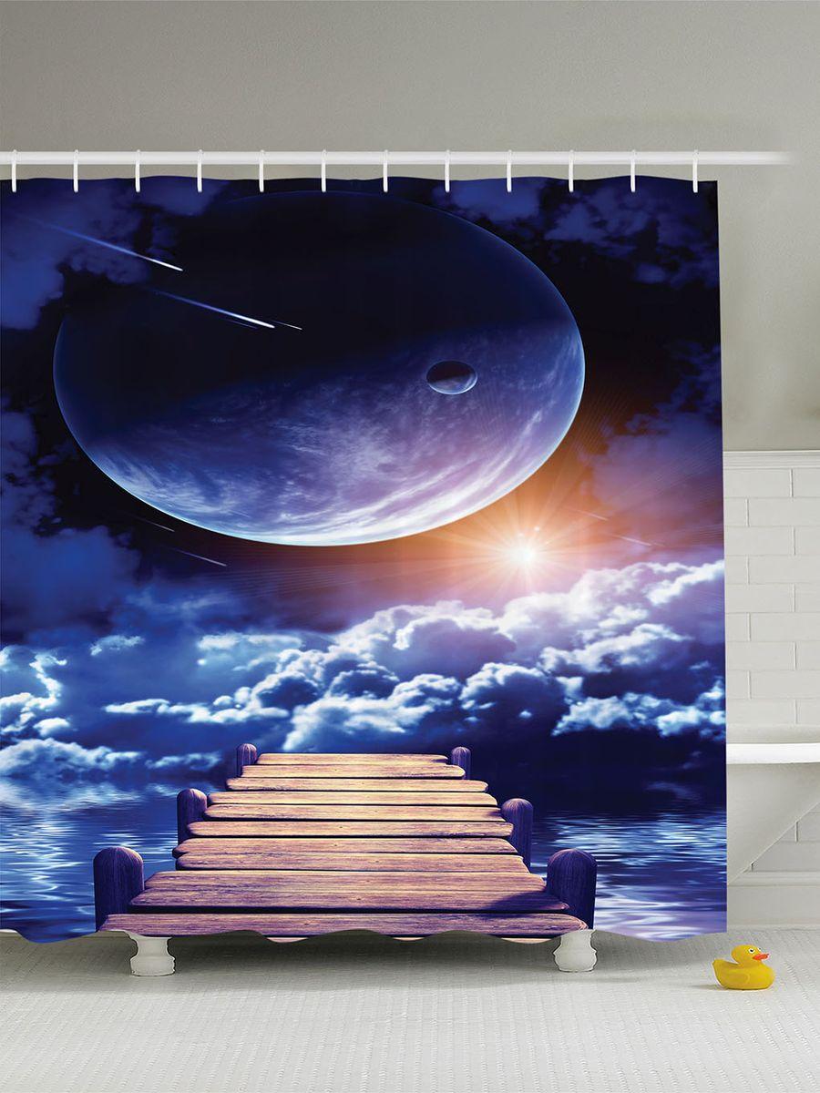 Штора для ванной комнаты Magic Lady Дорога в облака, 180 х 200 см68/5/4Штора Magic Lady Дорога в облака, изготовленная из высококачественного сатена (полиэстер 100%), отлично дополнит любой интерьер ванной комнаты. При изготовлении используются специальные гипоаллергенные чернила для прямой печати по ткани, безопасные для человека.В комплекте: 1 штора, 12 крючков. Обращаем ваше внимание, фактический цвет изделия может незначительно отличаться от представленного на фото.