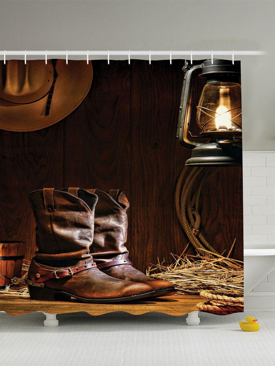 Штора для ванной комнаты Magic Lady Дом на Диком Западе, 180 х 200 см391602Штора Magic Lady Дом на Диком Западе, изготовленная из высококачественного сатена (полиэстер 100%), отлично дополнит любой интерьер ванной комнаты. При изготовлении используются специальные гипоаллергенные чернила для прямой печати по ткани, безопасные для человека.В комплекте: 1 штора, 12 крючков. Обращаем ваше внимание, фактический цвет изделия может незначительно отличаться от представленного на фото.