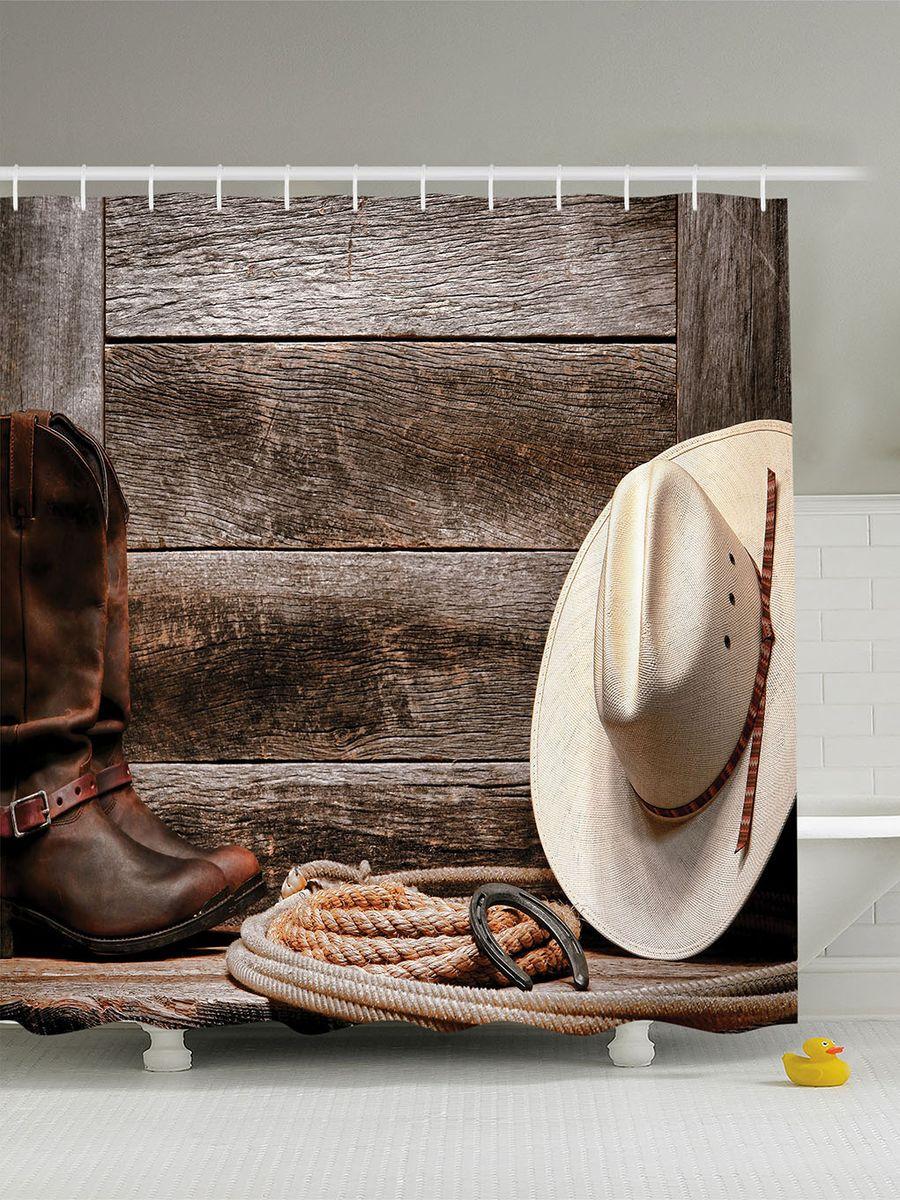 Штора для ванной комнаты Magic Lady Дикий Запад, 180 х 200 смES-412Штора Magic Lady Дикий Запад, изготовленная из высококачественного сатена (полиэстер 100%), отлично дополнит любой интерьер ванной комнаты. При изготовлении используются специальные гипоаллергенные чернила для прямой печати по ткани, безопасные для человека.В комплекте: 1 штора, 12 крючков. Обращаем ваше внимание, фактический цвет изделия может незначительно отличаться от представленного на фото.