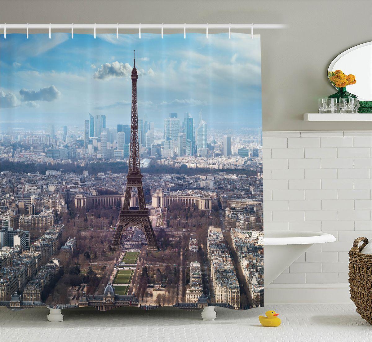 Штора для ванной комнаты Magic Lady Ранняя весна в Париже, 180 х 200 см68/5/3Штора Magic Lady Ранняя весна в Париже, изготовленная из высококачественного сатена (полиэстер 100%), отлично дополнит любой интерьер ванной комнаты. При изготовлении используются специальные гипоаллергенные чернила для прямой печати по ткани, безопасные для человека.В комплекте: 1 штора, 12 крючков. Обращаем ваше внимание, фактический цвет изделия может незначительно отличаться от представленного на фото.