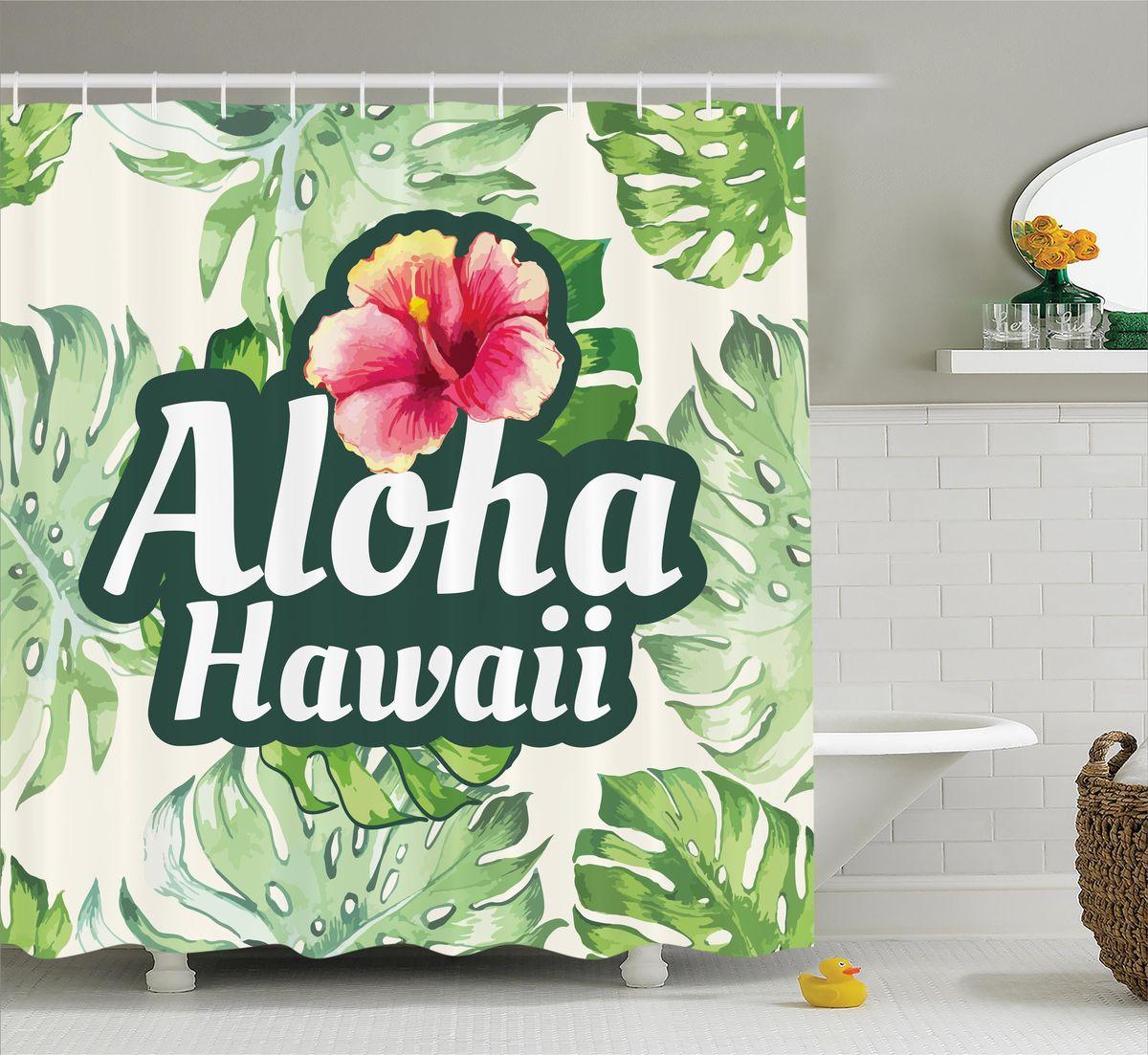 Штора для ванной комнаты Magic Lady Aloha. Hawaii, 180 х 200 смRG-D31SШтора Magic Lady Aloha. Hawaii, изготовленная из высококачественного сатена (полиэстер 100%), отлично дополнит любой интерьер ванной комнаты. При изготовлении используются специальные гипоаллергенные чернила для прямой печати по ткани, безопасные для человека.В комплекте: 1 штора, 12 крючков. Обращаем ваше внимание, фактический цвет изделия может незначительно отличаться от представленного на фото.