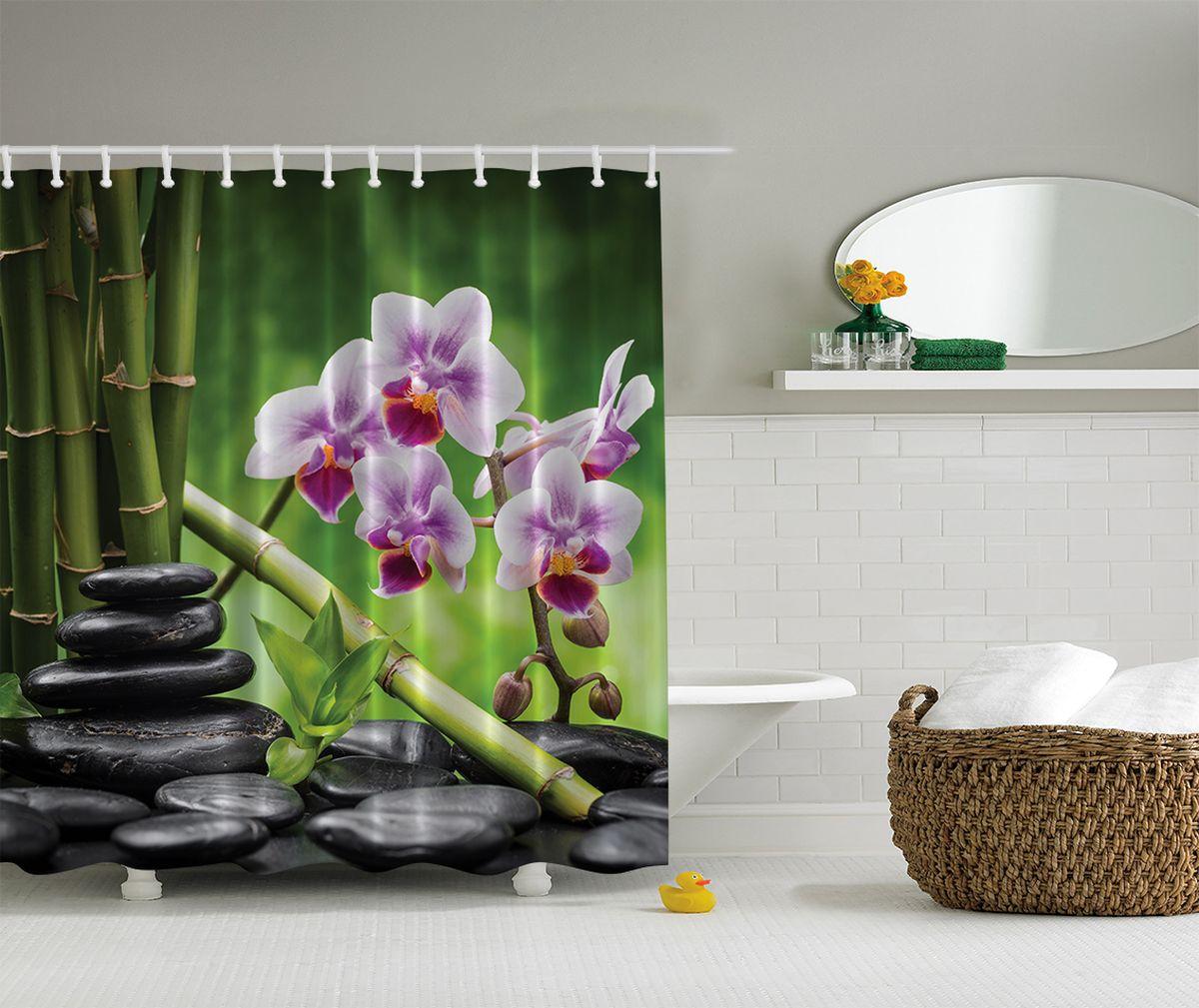Штора для ванной комнаты Magic Lady Стиль Фен-шуй, 180 х 200 см32329Штора Magic Lady Стиль Фен-шуй, изготовленная из высококачественного сатена (полиэстер 100%), отлично дополнит любой интерьер ванной комнаты. При изготовлении используются специальные гипоаллергенные чернила для прямой печати по ткани, безопасные для человека.В комплекте: 1 штора, 12 крючков. Обращаем ваше внимание, фактический цвет изделия может незначительно отличаться от представленного на фото.