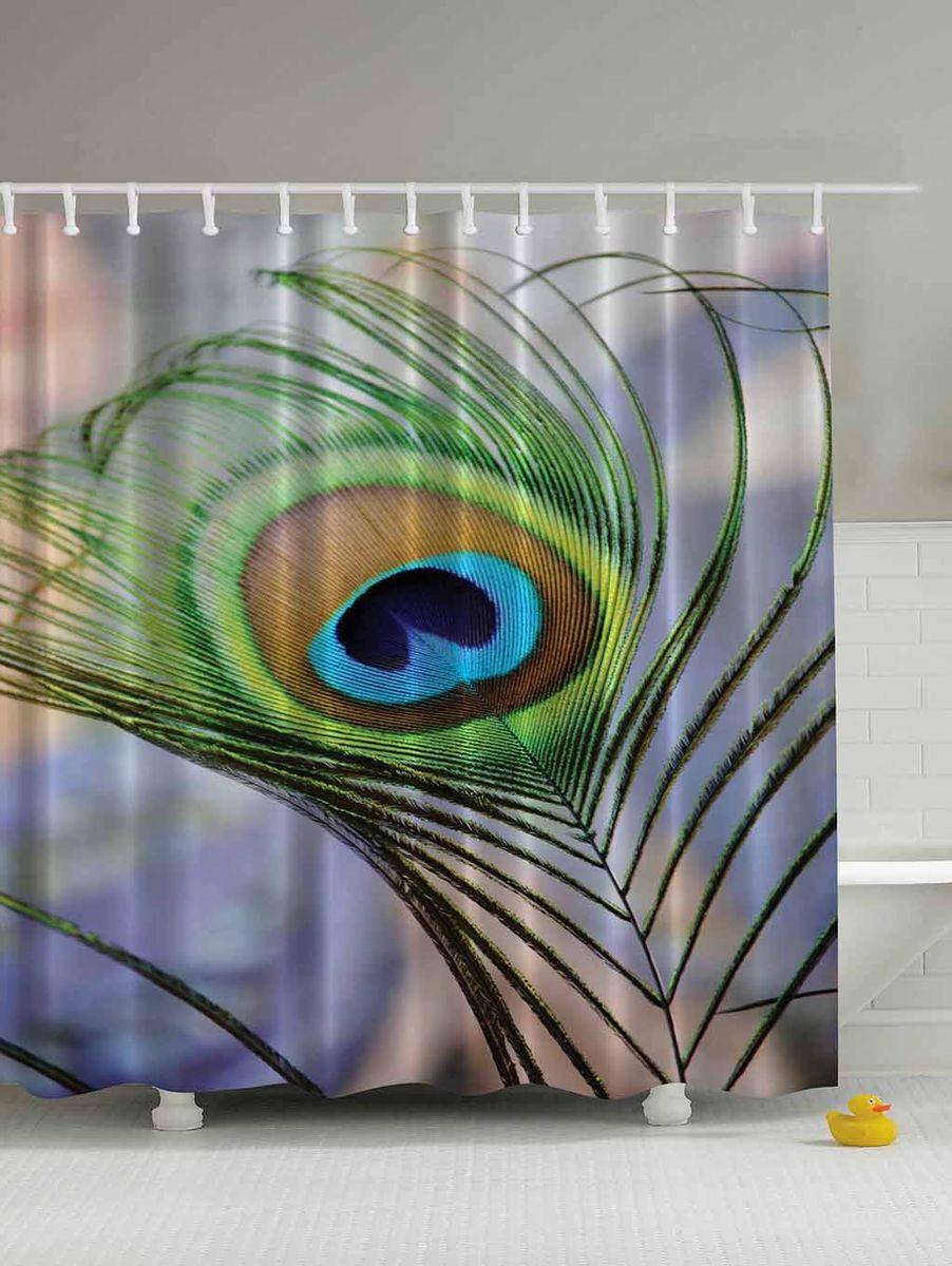 Штора для ванной комнаты Magic Lady Перо павлина, 180 х 200 см531-105Штора Magic Lady Перо павлина, изготовленная из высококачественного сатена (полиэстер 100%), отлично дополнит любой интерьер ванной комнаты. При изготовлении используются специальные гипоаллергенные чернила для прямой печати по ткани, безопасные для человека.В комплекте: 1 штора, 12 крючков. Обращаем ваше внимание, фактический цвет изделия может незначительно отличаться от представленного на фото.