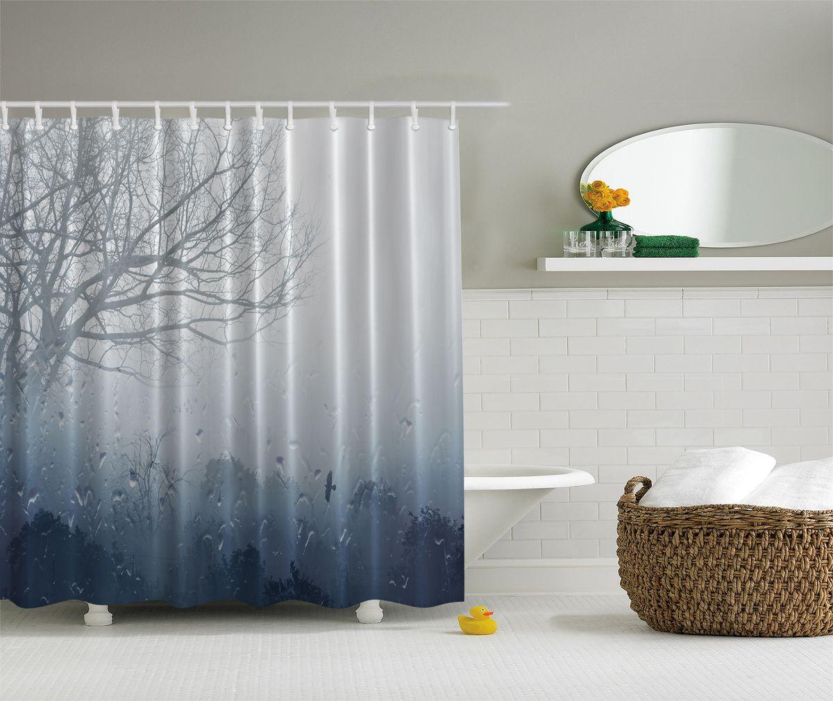 Штора для ванной комнаты Magic Lady Дождливый вечер и туман, 180 х 200 смшв_4419Штора Magic Lady Дождливый вечер и туман, изготовленная из высококачественного сатена (полиэстер 100%), отлично дополнит любой интерьер ванной комнаты. При изготовлении используются специальные гипоаллергенные чернила для прямой печати по ткани, безопасные для человека.В комплекте: 1 штора, 12 крючков. Обращаем ваше внимание, фактический цвет изделия может незначительно отличаться от представленного на фото.