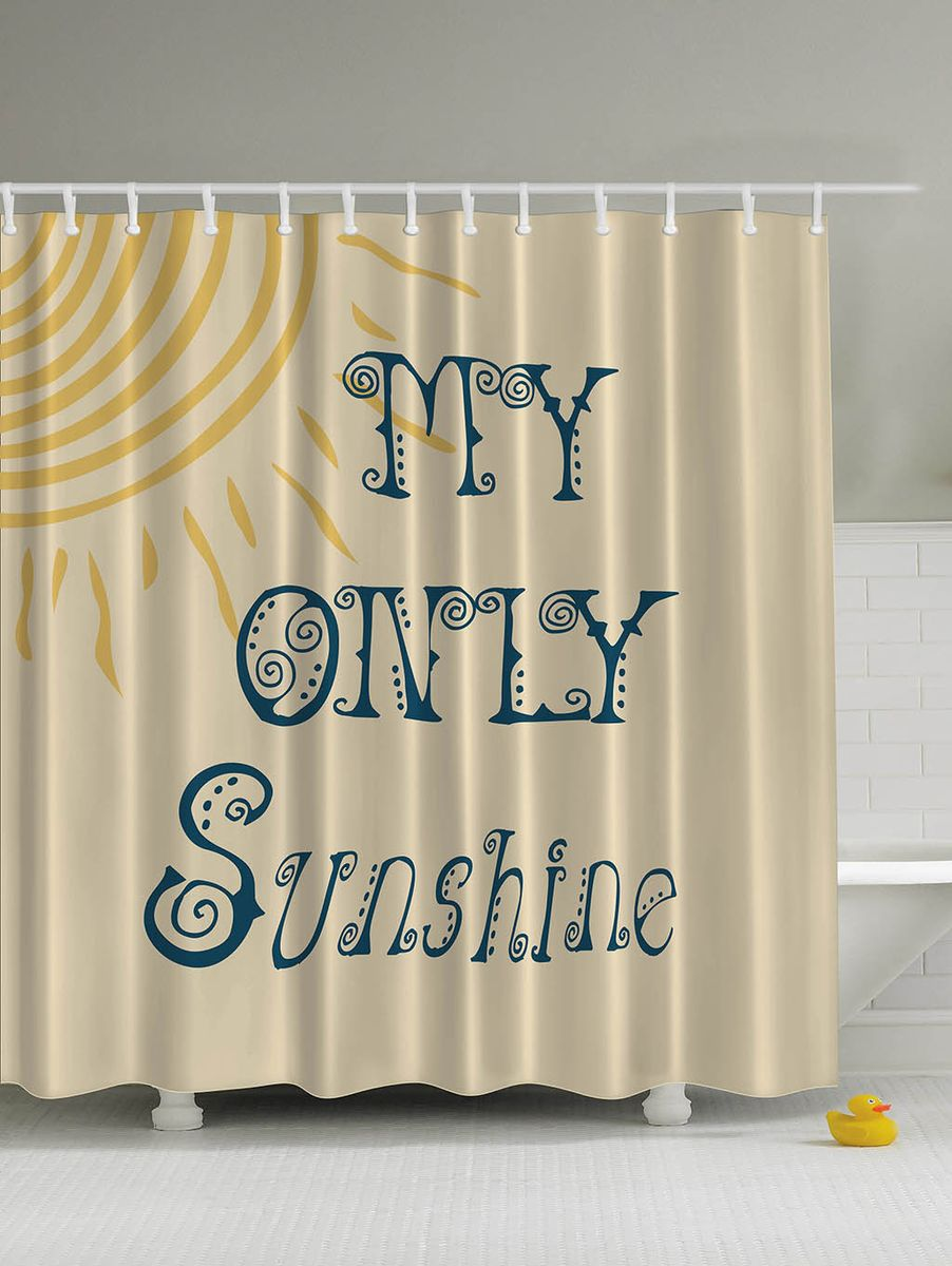 Штора для ванной комнаты Magic Lady Мое единственное солнышко, 180 х 200 см55310Штора Magic Lady Мое единственное солнышко, изготовленная из высококачественного сатена (полиэстер 100%), отлично дополнит любой интерьер ванной комнаты. При изготовлении используются специальные гипоаллергенные чернила для прямой печати по ткани, безопасные для человека.В комплекте: 1 штора, 12 крючков. Обращаем ваше внимание, фактический цвет изделия может незначительно отличаться от представленного на фото.