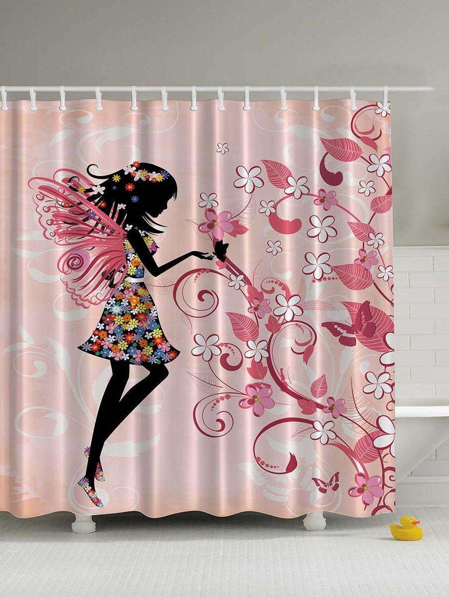 Штора для ванной комнаты Magic Lady Цветочная фея у цветущего дерева, 180 х 200 смшв_2934Штора Magic Lady Цветочная фея у цветущего дерева, изготовленная из высококачественного сатена (полиэстер 100%), отлично дополнит любой интерьер ванной комнаты. При изготовлении используются специальные гипоаллергенные чернила для прямой печати по ткани, безопасные для человека.В комплекте: 1 штора, 12 крючков. Обращаем ваше внимание, фактический цвет изделия может незначительно отличаться от представленного на фото.