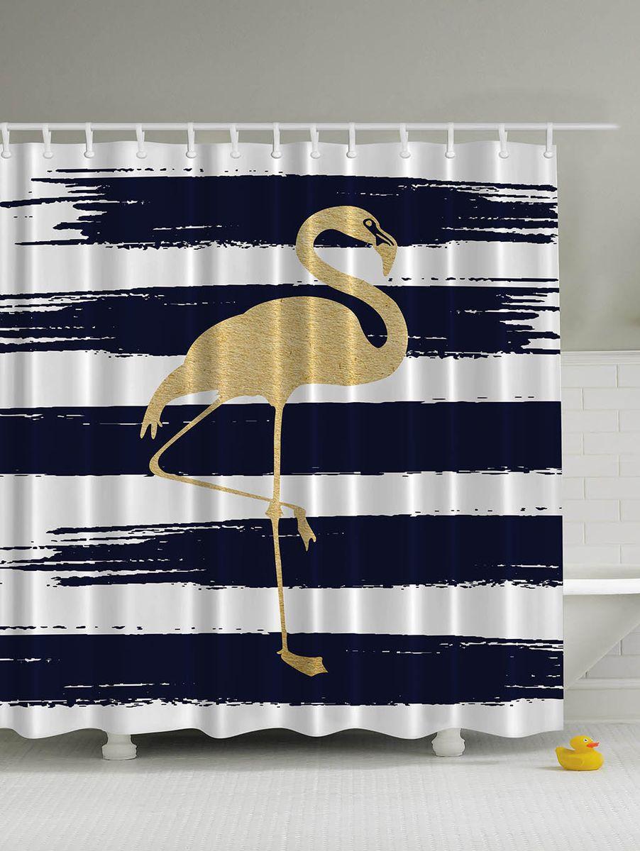 Штора для ванной комнаты Magic Lady Желтый фламинго, 180 х 200 смшв_5232Штора Magic Lady Желтый фламинго, изготовленная из высококачественного сатена (полиэстер 100%), отлично дополнит любой интерьер ванной комнаты. При изготовлении используются специальные гипоаллергенные чернила для прямой печати по ткани, безопасные для человека.В комплекте: 1 штора, 12 крючков. Обращаем ваше внимание, фактический цвет изделия может незначительно отличаться от представленного на фото.