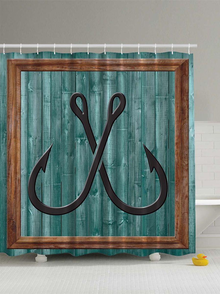 Штора для ванной комнаты Magic Lady Рыболовные крючки, 180 х 200 смAL-005Штора Magic Lady Рыболовные крючки, изготовленная из высококачественного сатена (полиэстер 100%), отлично дополнит любой интерьер ванной комнаты. При изготовлении используются специальные гипоаллергенные чернила для прямой печати по ткани, безопасные для человека.В комплекте: 1 штора, 12 крючков. Обращаем ваше внимание, фактический цвет изделия может незначительно отличаться от представленного на фото.
