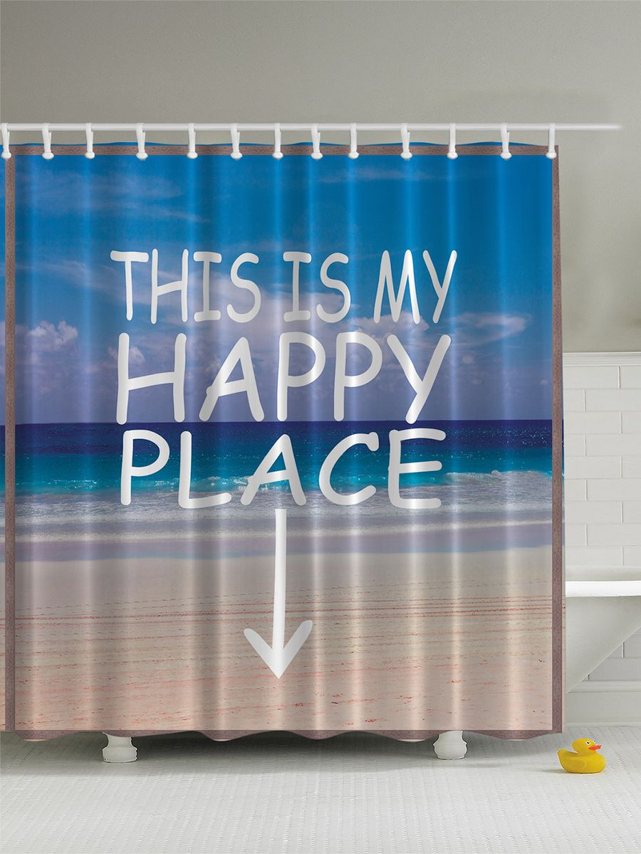 Штора для ванной комнаты Magic Lady Пляж, море, песок. Счастливое место, 180 х 200 смCLP446Штора Magic Lady Пляж, море, песок. Счастливое место, изготовленная из высококачественного сатена (полиэстер 100%), отлично дополнит любой интерьер ванной комнаты. При изготовлении используются специальные гипоаллергенные чернила для прямой печати по ткани, безопасные для человека.В комплекте: 1 штора, 12 крючков. Обращаем ваше внимание, фактический цвет изделия может незначительно отличаться от представленного на фото.