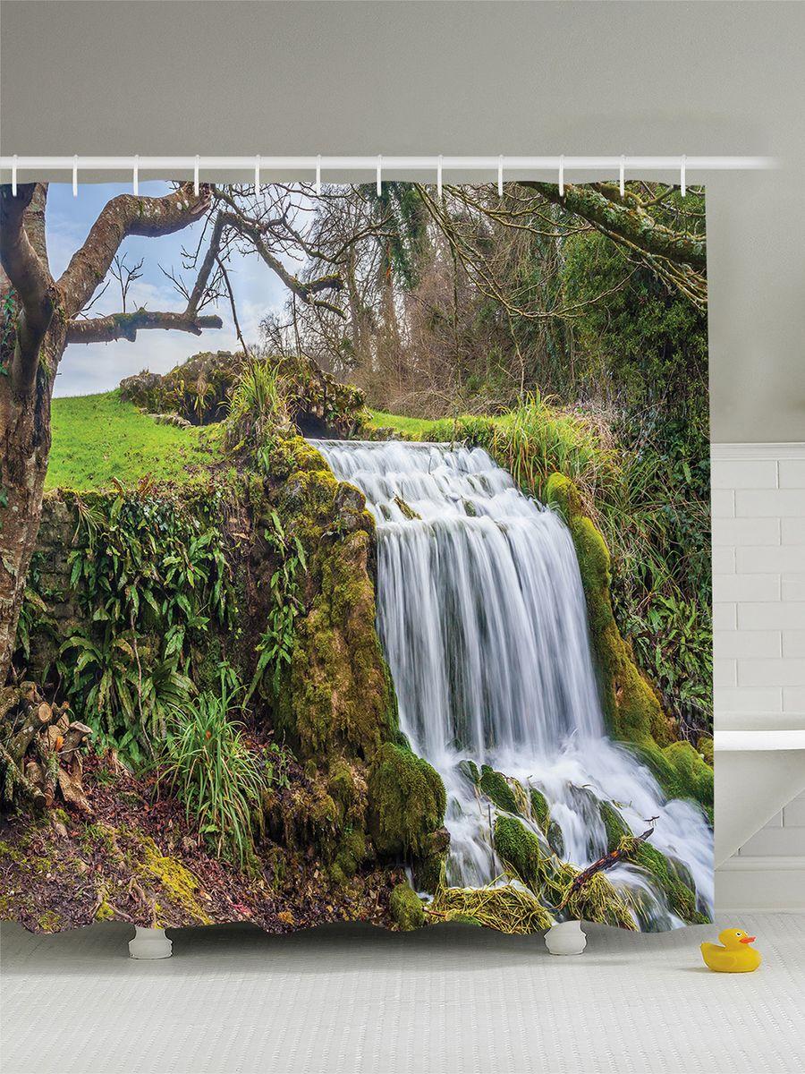Штора для ванной комнаты Magic Lady Шепот водопада, 180 х 200 смшв_14599Штора Magic Lady Шепот водопада, изготовленная из высококачественного сатена (полиэстер 100%), отлично дополнит любой интерьер ванной комнаты. При изготовлении используются специальные гипоаллергенные чернила для прямой печати по ткани, безопасные для человека.В комплекте: 1 штора, 12 крючков. Обращаем ваше внимание, фактический цвет изделия может незначительно отличаться от представленного на фото.