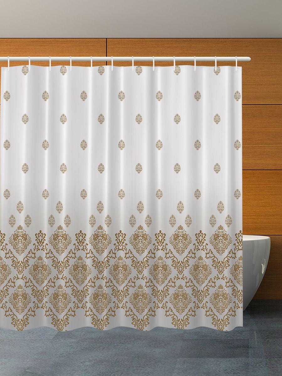 Штора для ванной комнаты Magic Lady Бежевые узоры, 180 х 200 смPANTERA SPX-2RSКомпания Сэмболь изготавливает шторы из высококачественного сатена (полиэстер 100%). При изготовлении используются специальные гипоаллергенные чернила для прямой печати по ткани, безопасные для человека и животных. Экологичность продукции Magic lady и безопасность для окружающей среды подтверждены сертификатом Oeko-Tex Standard 100. Крепление: крючки (12 шт.). Внимание! При нанесении сублимационной печати на ткань технологическим методом при температуре 240 С, возможно отклонение полученных размеров, указанных на этикетке и сайте, от стандартных на + - 3-5 см. Мы стараемся максимально точно передать цвета изделия на наших фотографиях, однако искажения неизбежны и фактический цвет изделия может отличаться от воспринимаемого по фото. Обратите внимание! Шторы изготовлены из полиэстра сатенового переплетения, а не из сатина (хлопок). Размер шторы 180*200 см. В комплекте 1 штора и 12 крючков.