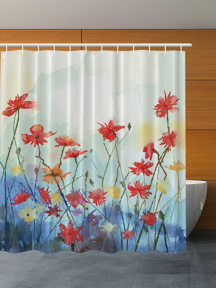 Штора для ванной комнаты Magic Lady Полевые цветы. Акварель, 180 х 200 смшв_3461Штора Magic Lady Полевые цветы. Акварель, изготовленная из высококачественного сатена (полиэстер 100%), отлично дополнит любой интерьер ванной комнаты. При изготовлении используются специальные гипоаллергенные чернила для прямой печати по ткани, безопасные для человека.В комплекте: 1 штора, 12 крючков. Обращаем ваше внимание, фактический цвет изделия может незначительно отличаться от представленного на фото.