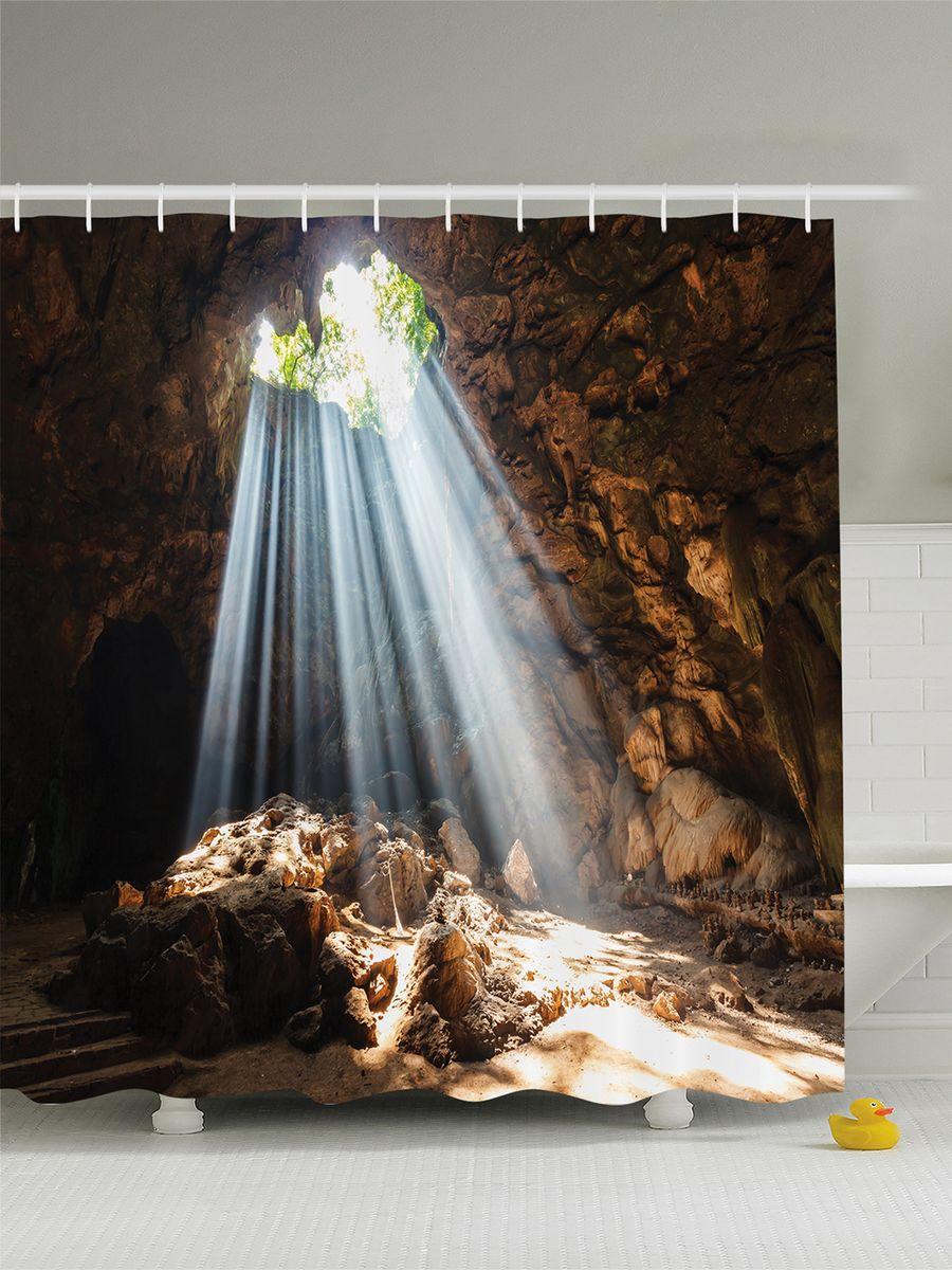 Штора для ванной комнаты Magic Lady Солнце в пещере, 180 х 200 смшв_12273Штора Magic Lady Солнце в пещере, изготовленная из высококачественного сатена (полиэстер 100%), отлично дополнит любой интерьер ванной комнаты. При изготовлении используются специальные гипоаллергенные чернила для прямой печати по ткани, безопасные для человека.В комплекте: 1 штора, 12 крючков. Обращаем ваше внимание, фактический цвет изделия может незначительно отличаться от представленного на фото.